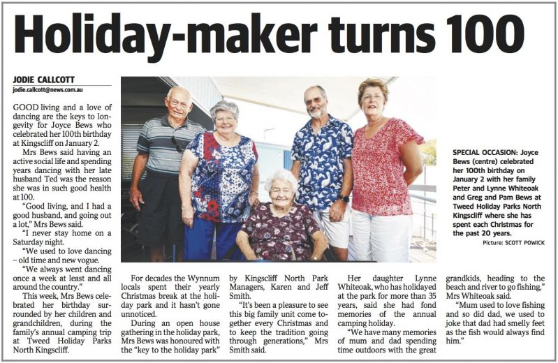 Tweed - Holiday Maker turns 100
