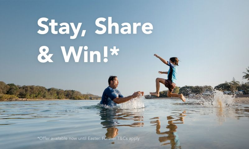Stay, Share & Win